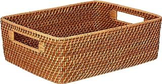 Kouboo 1060121 Laguna Rattan Shelf & Organizing Basket