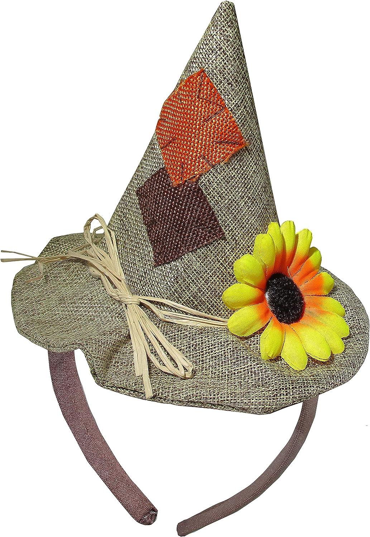 Unisex Adults Scarecrow Hat on Headband - Mini Hats on Headband
