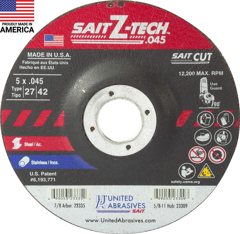 United Abrasives-SAIT Seasonal Wrap Introduction Tampa Mall 23335 Type 27 8-Inc 7 x 5-Inch .045-Inch