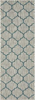 Unique Loom 3136827 Area Rug, 2' 0 x 6' 0 Runner, Gray/Blue