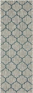 blue gray runner rug