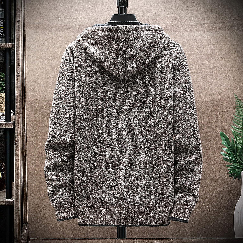 Men's Autumn Sweatshirt Solid Color Fleece Long Sleeve Pullover Funny Sports Outdoor