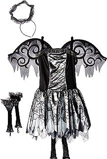 Amscan 842696 Black and Silver Fallen Angel Costume, Children Medium Size, 1 Piece