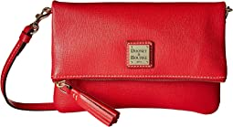 Dooney & Bourke - Saffiano Fold-Over Zip Crossbody