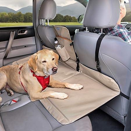 Kurgo Dog Backseat Bridge Car extender, Seat Bridge for Dogs, Padded Pet Car Barrier, Reversible, Water Resistant, Universal Fit, Cup Holder & Pocket, Up to 100 lbs