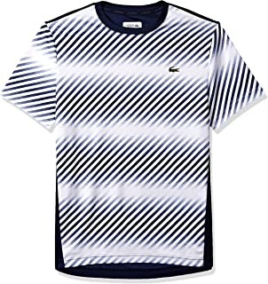 Lacoste Men's Sport Short Sleeve Ultra Dry Pique T-Shirt W/Print at Front