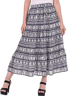COTTON BREEZE Women's Cotton Geometric Print Skirt