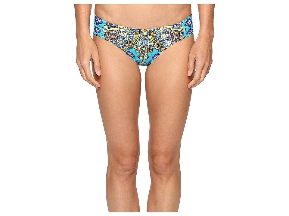 Trina Turk Corsica Shirred Side Hipster Bottom (Turquoise) Women