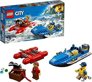 LEGO City Police Wild River Escape Boat Toy, Multi-Colour, 60176