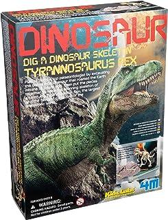 4M KidzLabs Dig A Dino Tyrannosaurus Rex, Paleontology Skeleton Fossil Dinosaur Discovery - STEM Toys Educational Gift for...