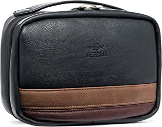 Vetelli Hanging Toiletry Bag for Men - Dopp Kit - Perfect bathroom organizer or travel kit for men - A wonderful gift for the man in your life and a perfect travel accessory.