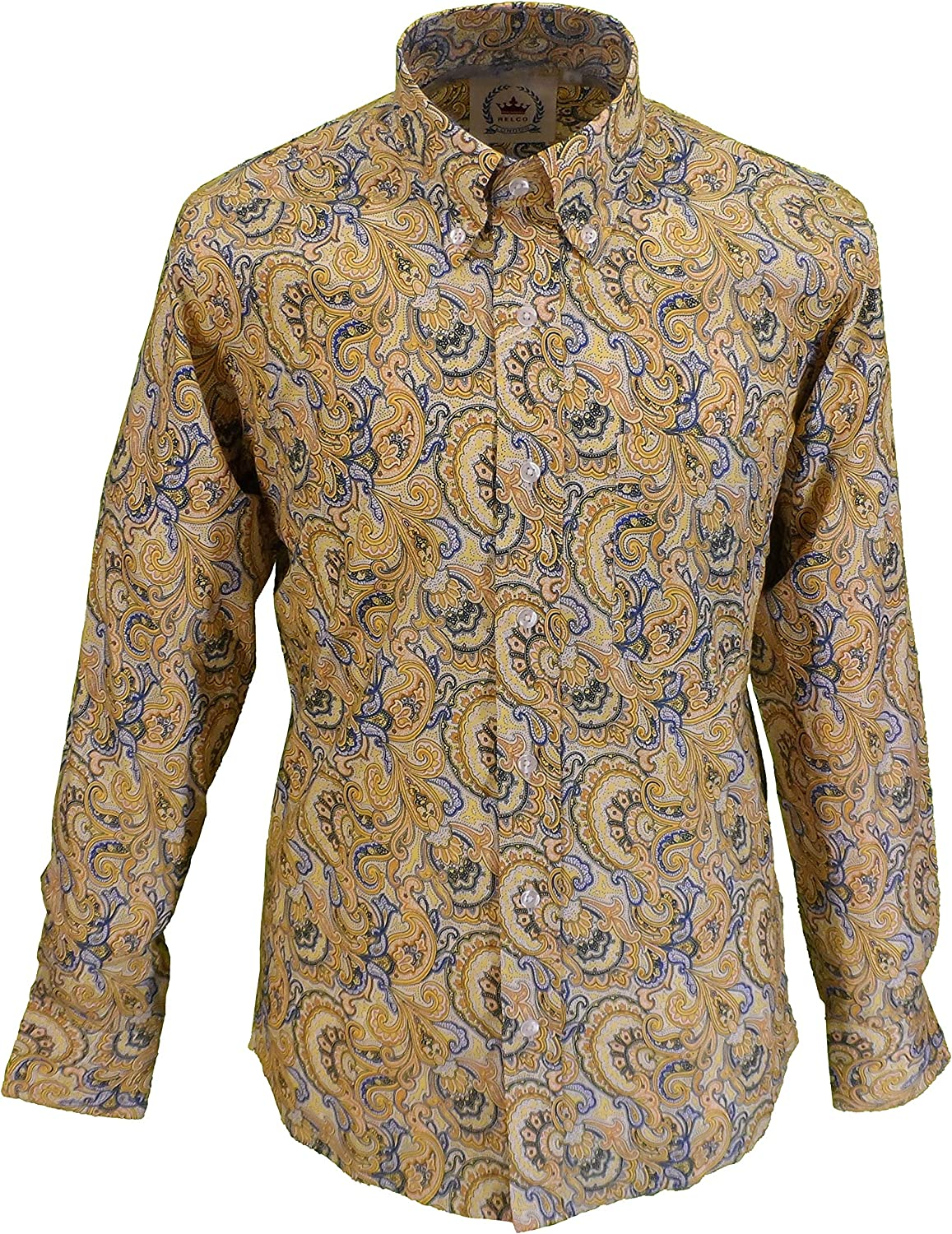 1960s Mens Shirts | 60s Mod Shirts, Hippie Shirts Relco Mens Retro Mod Paisley Shirt £34.99 AT vintagedancer.com