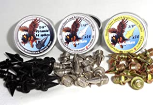TRIPLE PACK - 3/8 inch Steel Track and Cross Country Spikes
