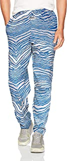 Zubaz Men's Classic Zebra Printed Athletic Lounge Pants, Cool Gray/Royal, M