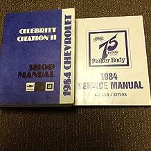 1984 Chevy Citation II and Celebrity Repair Shop Manual Original