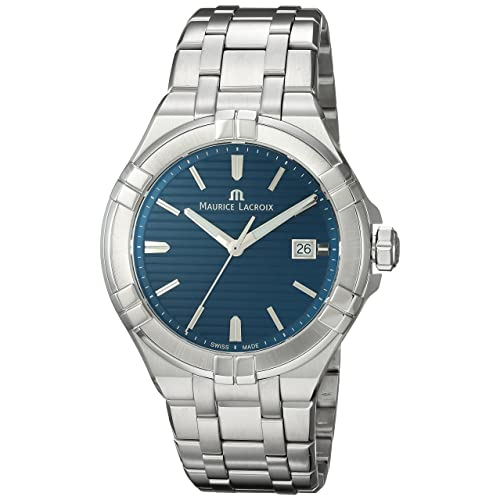 Maurice Lacroix Mens Aikon Swiss-Quartz Watch with Stainless-Steel Strap, Silver (
