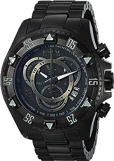 ساعة ريزيرف كوليكشن اكسكيورشن كرونوغراف سوداء مطلية بالايون وشاشة انالوج للرجال من انفيكتا 6474