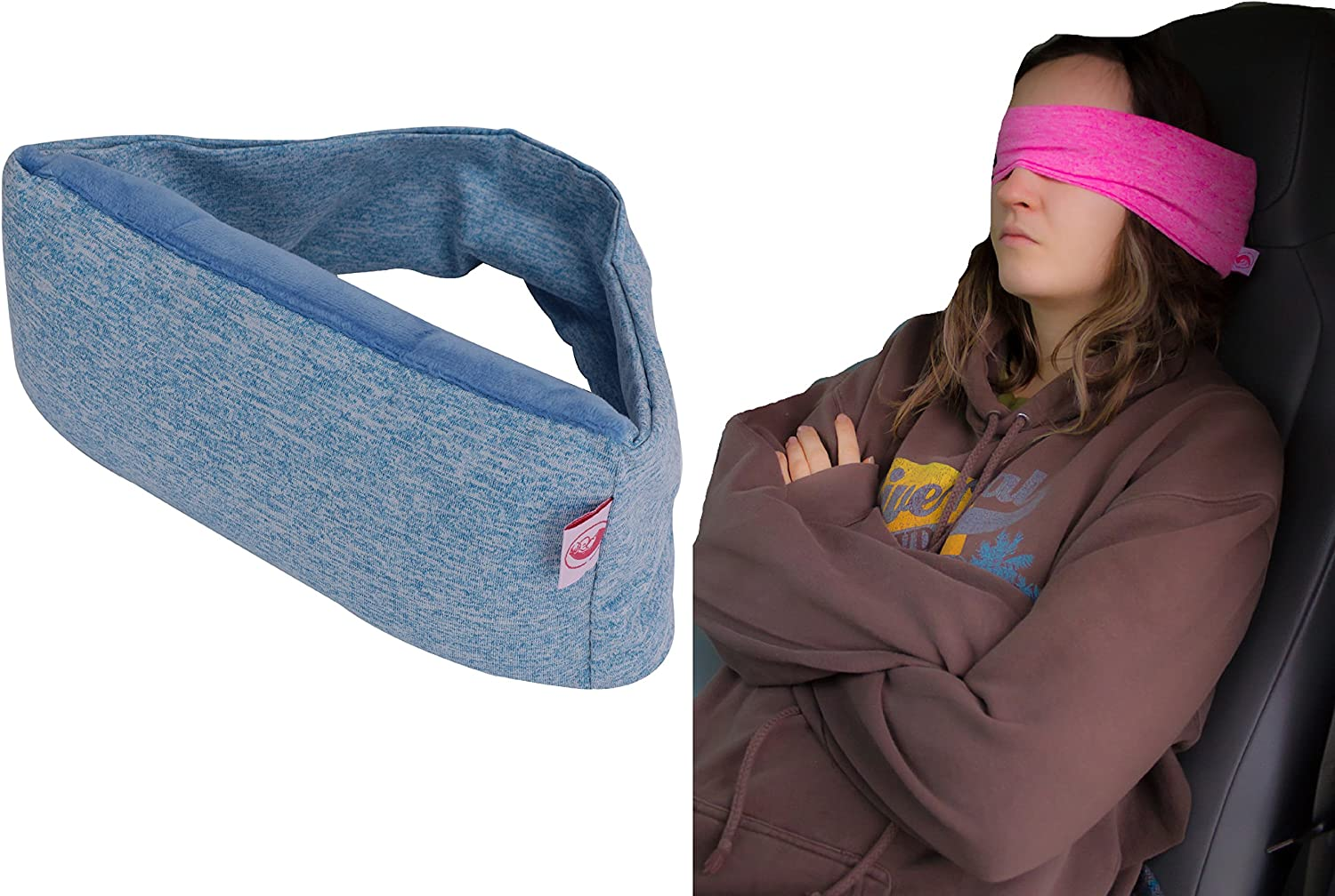 2 in 1 Albuquerque Mall Voyage Travel Pillow Flight Essentials Eye Mask Long and OFFer