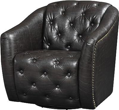 Wondrous Amazon Com Ozzie Swivel Chair Black Kitchen Dining Short Links Chair Design For Home Short Linksinfo