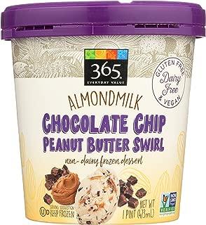 365 Everyday Value, Almondmilk Chocolate Chip Peanut Butter Swirl Non-Dairy Dessert, 1 pint, (Frozen)
