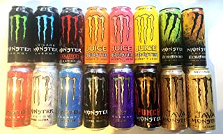 16 Pack - New Monster Energy Drink - Variety Pack