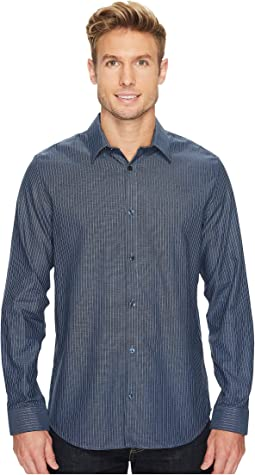 Calvin Klein - Infinite Cool Wide Stripe Dobby Button Down Shirt