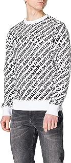 Calvin Klein Crew Neck AOP Diagonale Logo Girocollo Uomo