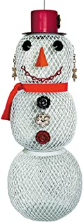 Perky-Pet Bird Feeder - Mrs. Snowman - Small Hanging Metal Seed Feeder for the Garden - Holds 0.7 kg of Sunflower Seed #SW...
