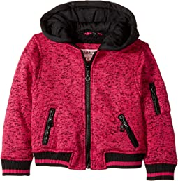 Melange Fleece Bomber with Woobie Lining (Toddler)