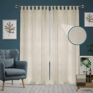 """Set of 2: Canvas Drop Cloth Curtains 54""""x108"""". Bedroom Curtains, Living Room Window Curtains & Outdoor Farmhouse Curtains...."""