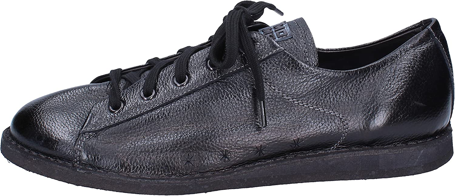 MOMA Fashion-Sneakers Mens Leather Black