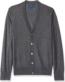 Amazon Brand - BUTTONED DOWN Men's Italian Merino Wool Lightweight Cashwool Cardigan Sweater