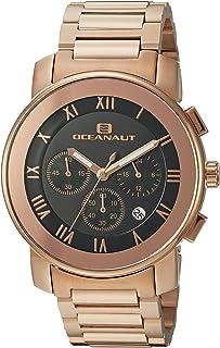 Oceanaut Men's Riviera Analog-Quartz Watch with Stainless-Steel Strap, Rose Gold, 22 (Model: OC0333)