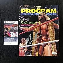Macho Man Randy Savage Signed WWF Event Program COA WWE - JSA Certified - Autographed Wrestling Cards