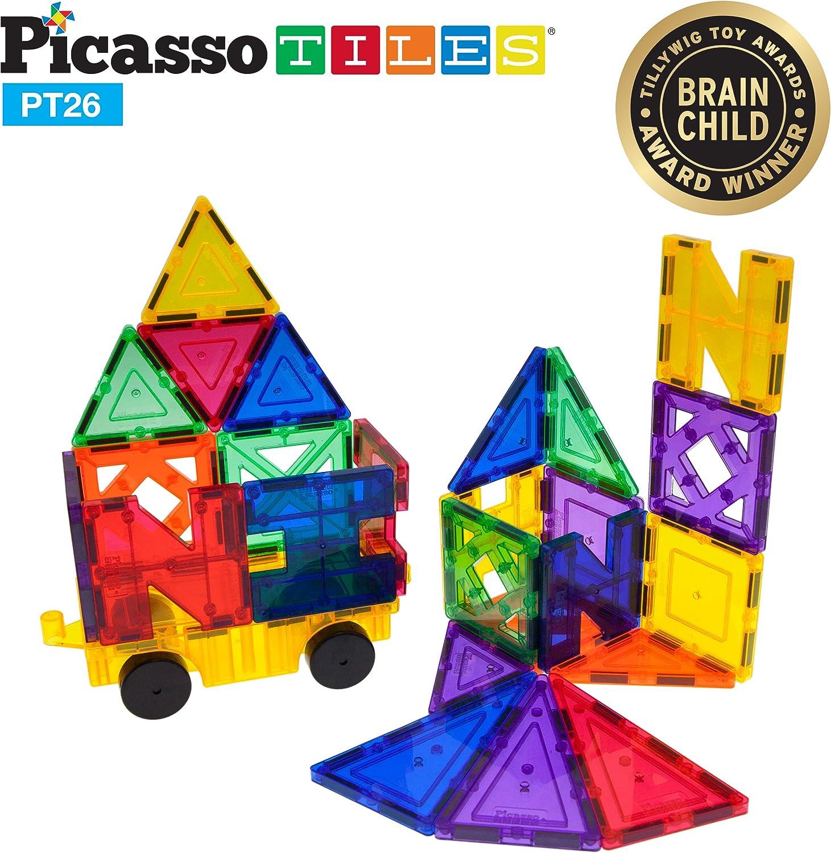 PicassoTiles PT26 Inspirational Set New sales Building Tiles specialty shop Magnet Clear