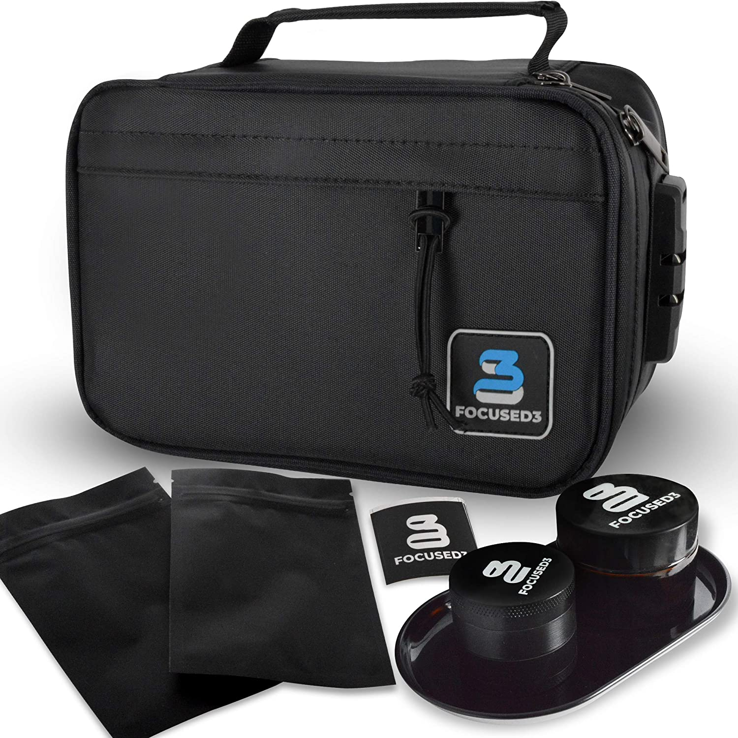 Seasonal Wrap Introduction Online limited product FOCUSED3 Smell Proof Bag – with Case Odor Combination