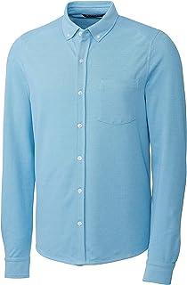 Cutter & Buck Mens BCK00157 Big & Tall Long Sleeve Button Front Reach Oxford Long Sleeves Button Down Shirt