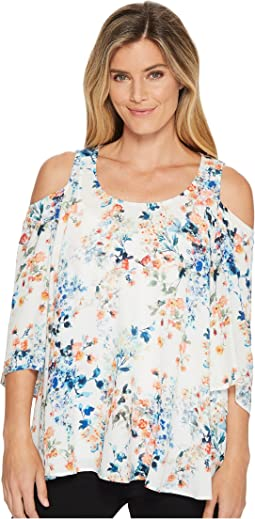 Cold Shoulder Flare Sleeve Top