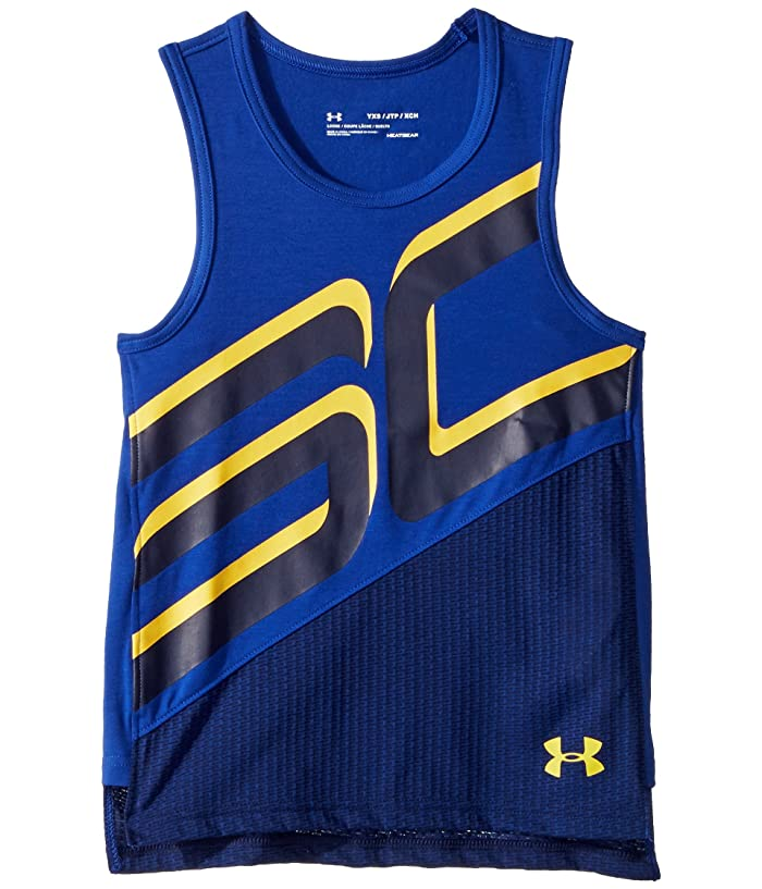 promo code 187f0 6a767 Under Armour Kids Steph Curry 30 Tank Top (Big Kids ...