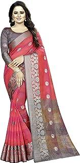 Women's Jacquard Silk Saree With Unstitched Blouse Piece