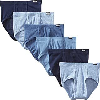 Men's 6-Pack Tagless No Ride Up Briefs with ComfortSoft...
