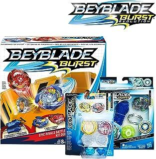 BEYBLADE Burst Bundle Exclusive -- Epic Rivals Battle Set, Rip Fire Starter Pack Wyvron W2, Dual Pack Orpheus and Unicrest U2