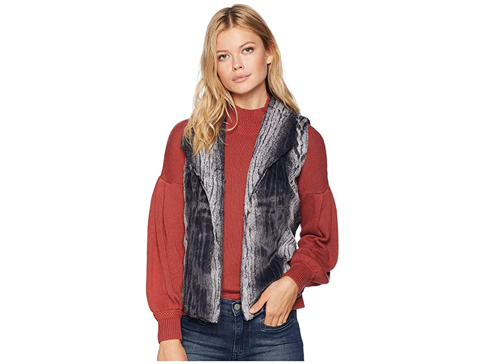 Tribal Fur Vest (Ink) Women