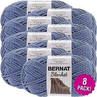Bernat 99635 Country Blue, Blanket Big Ball Yarn, Multipack of 8, 8 Pack