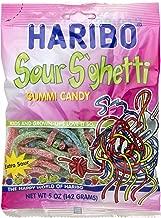 Haribo Sour S'ghetti Gummi Candy, 5 oz (Pack of 3)