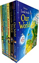 Usborne Look Inside Our world 6 Books Collection Pack Set ( Seas and Oceans, Nature,Our World,Animal Homes,Jundle,Space)