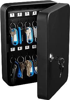 AdirOffice Key Steel Security Storage Holder Cabinet Valet Lock Box (48 Key, Black)