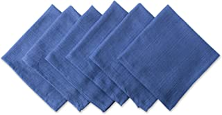 DII Variegated 100% Cotton Napkin Set, 20 by 20-inch, Nautical Blue