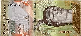 Venezuela Paper Banknotes 2000 Bolivares Fuertes