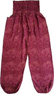 Love Quality Ladies Red Baggy Pants Thai Graphic Design